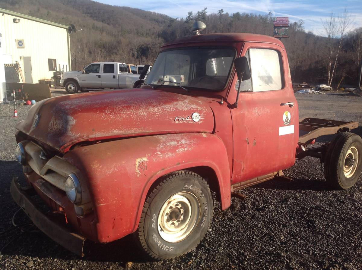 1955 Ford F250 Stake Bed Truck K2 Motorsports Llc F100 Long Pick Up
